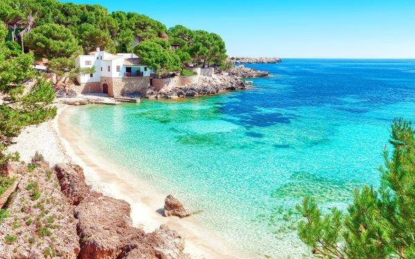 Photography Beach Sea House Spain Mallorca HD Wallpaper | Background Image