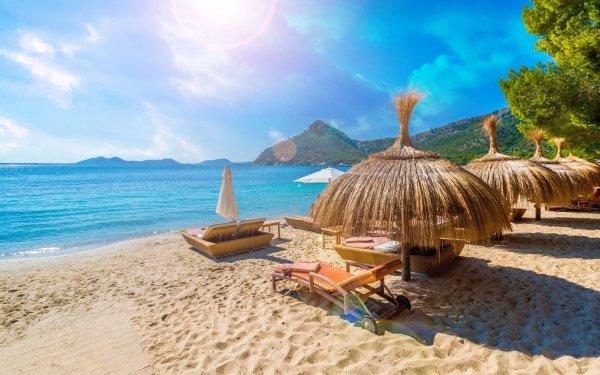 Man Made Resort Sea Beach Spain Mallorca HD Wallpaper | Background Image