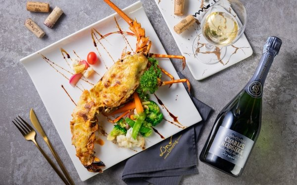 Alimento Lobster Champagne Sauce Fondo de pantalla HD | Fondo de Escritorio