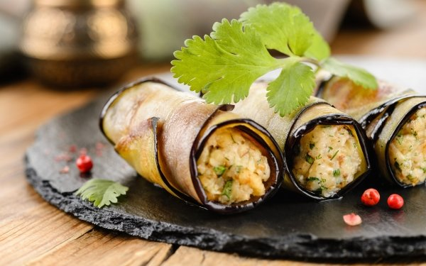 Food Eggplant Stuffing Snack HD Wallpaper | Background Image