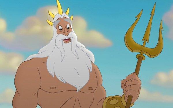 Movie The Little Mermaid II: Return to the Sea The Little Mermaid King Triton Merman HD Wallpaper | Background Image