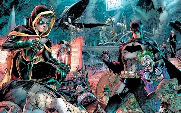 Comics Detective Comics Batman Robin Joker Bane Nightwing Catwoman Penguin Harley Quinn Dick Grayson DC Comics Alfred Pennyworth Riddler Killer Croc Batcave Two-Face Damian Wayne Batmobile Scarecrow HD Wallpaper | Background Image