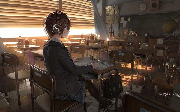 Anime Original Classroom HD Wallpaper   Background Image