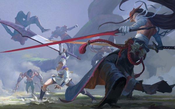 Videojuego League Of Legends Zed Yone Riven Sylas Fondo de pantalla HD | Fondo de Escritorio