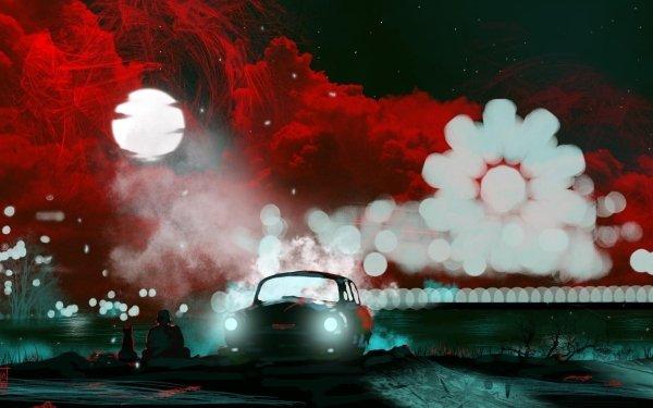 Artistic Night Car HD Wallpaper | Background Image