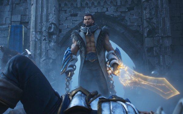 Videojuego League Of Legends Sylas Man Espada Fondo de pantalla HD | Fondo de Escritorio