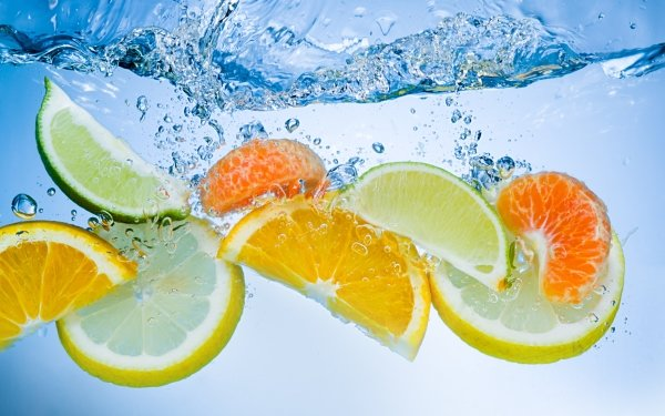 Food Fruit Fruits Water Lemon Mandarin Lime HD Wallpaper | Background Image