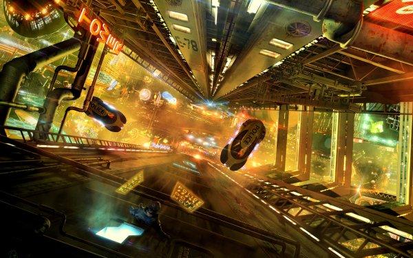 Sci Fi Futuristic Futuristic City HD Wallpaper | Background Image