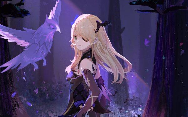 Video Game Genshin Impact Fischl Blonde Green Eyes HD Wallpaper | Background Image