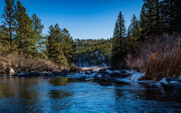 Earth Lake Lakes Stone USA Colorado Lake George HD Wallpaper | Background Image
