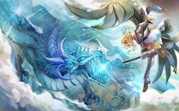 Video Game Genshin Impact Lumine Dragon Dvalin HD Wallpaper | Background Image