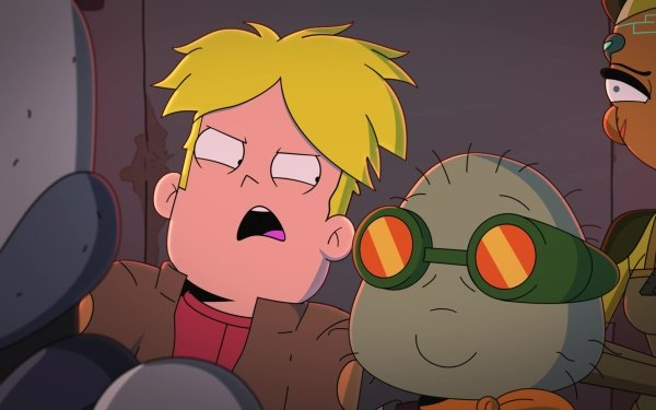 TV Show Final Space Gary Goodspeed Clarence Polkawitz Blonde Nightfall Goggles HD Wallpaper | Background Image