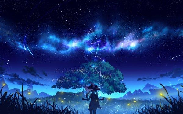 Videospel Genshin Impact Mona Starry Sky HD Wallpaper | Achtergrond