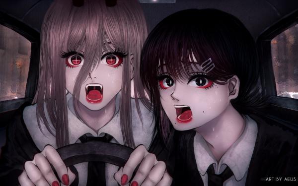 Anime Chainsaw Man Kobeni Higashiyama Power HD Wallpaper | Background Image