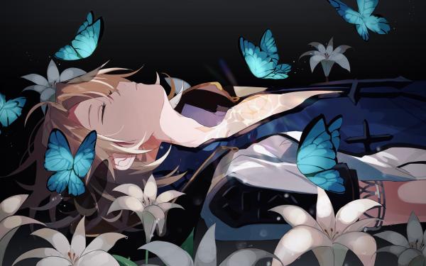 Videospel Genshin Impact Albedo HD Wallpaper   Achtergrond