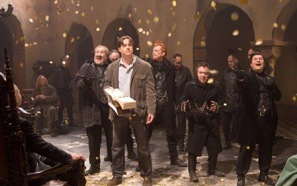 Movie Inkheart Mortimer Folchart Capricorn Brendan Fraser Dustfinger Paul Bettany HD Wallpaper | Background Image