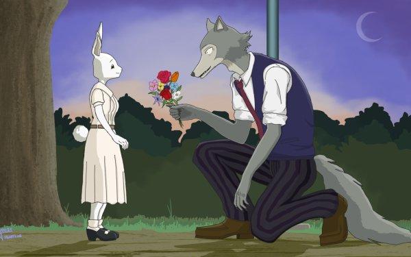 Anime Beastars Haru Legosi Wolf Rabbit Love Valentine's Day HD Wallpaper | Background Image