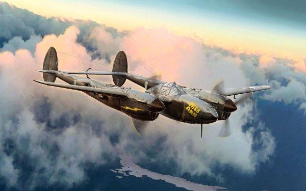 Military Lockheed P-38 Lightning Military Aircraft Aircraft Warplane HD Wallpaper   Background Image