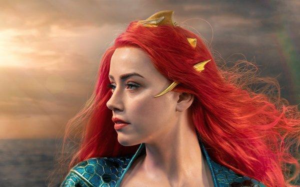 Movie Aquaman Mera DC Comics Amber Heard Redhead HD Wallpaper   Background Image