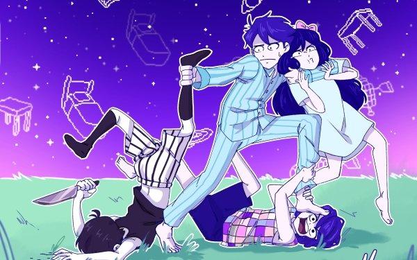 Video Game OMORI Kel Omori Boy Girl Socks Pajamas Feet Knife Aubrey Hero HD Wallpaper | Background Image