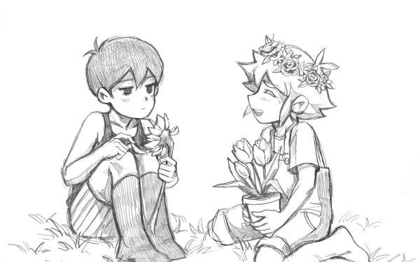 Video Game OMORI Omori Basil Boy Flower Socks Barefoot HD Wallpaper | Background Image