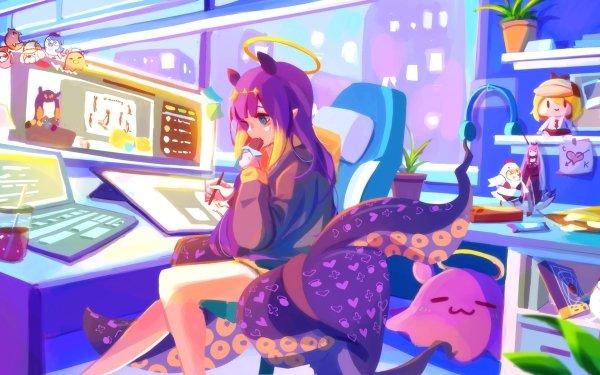 Anime Virtual Youtuber Ninomae Ina'nis HD Wallpaper | Background Image