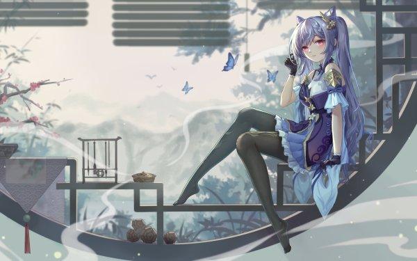 Videospel Genshin Impact Keqing HD Wallpaper | Achtergrond