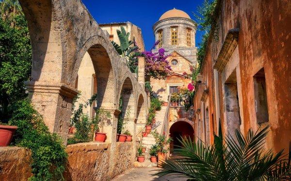 Religious Monastery Agia Triada Monastery Greece HD Wallpaper | Background Image