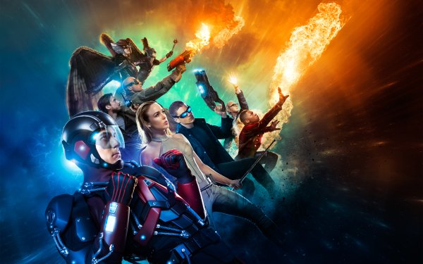 TV Show DC's Legends Of Tomorrow Hawkgirl Hawkman Atom White Canary Captain Cold Firestorm Heat Wave Rip Hunter Martin Stein Carter Hall Kendra Sanders HD Wallpaper | Background Image
