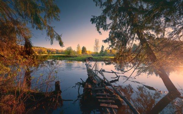 Man Made Bridge Bridges Nature Outdoor HD Wallpaper   Background Image
