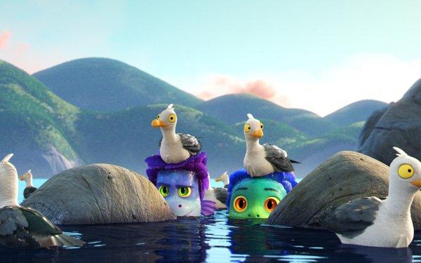Movie Luca Luca Paguro Alberto Scorfano Sea Monster Seagull HD Wallpaper | Background Image