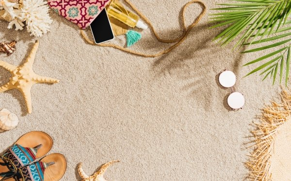 Artistic Summer Sand Beach Vacation HD Wallpaper   Background Image