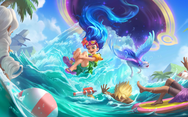 Video Game Legends of Runeterra Zoe HD Wallpaper | Background Image