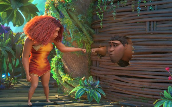 Movie The Croods: A New Age Eep Grug HD Wallpaper | Background Image