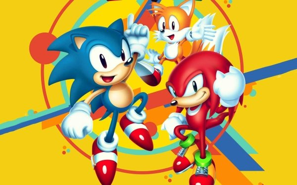 """Video Game Sonic Mania Sonic Knuckles the Echidna Miles """"Tails"""" Prower Sonic the Hedgehog HD Wallpaper 