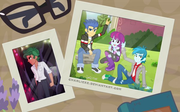 TV Show My Little Pony: Equestria Girls My Little Pony Timber Spruce Flash Sentry Thunderbass HD Wallpaper | Background Image