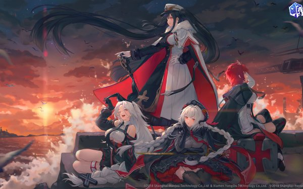 Anime Azur Lane Peter Strasser Prinz Heinrich Nurnberg Weser HD Wallpaper | Background Image