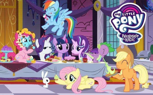 TV Show My Little Pony: Friendship is Magic My Little Pony Twilight Sparkle Starlight Glimmer Spike Fluttershy Applejack Rarity Rainbow Dash Pinkie Pie Angel Bunny HD Wallpaper | Background Image