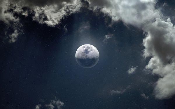 Earth Moon Cloud HD Wallpaper   Background Image