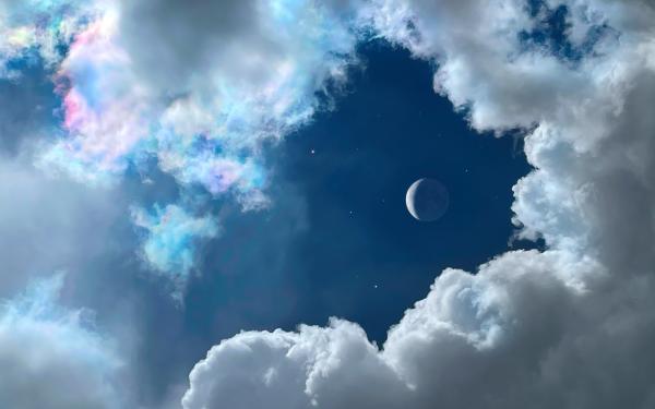 Earth Moon Sky Cloud HD Wallpaper   Background Image