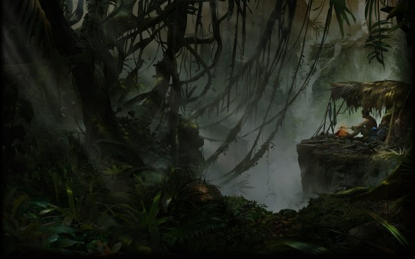 Video Game Green Hell Survival Camp Campfire Forest Jungle HD Wallpaper | Background Image
