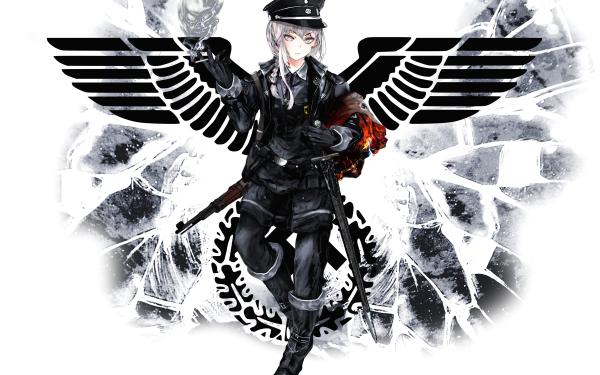 Anime Girl Nazi HD Wallpaper   Background Image