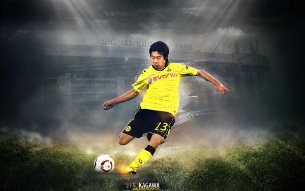 Sports Shinji Kagawa Soccer Player Borussia Dortmund HD Wallpaper | Background Image