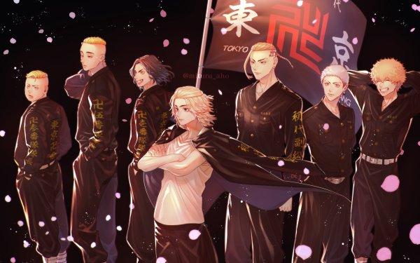 Anime Tokyo Revengers Keisuke Baji Mikey Manjiro Sano Ken Ryuguji Takashi Mitsuya Haruki Hayashida Nahoya Kawata HD Wallpaper | Background Image