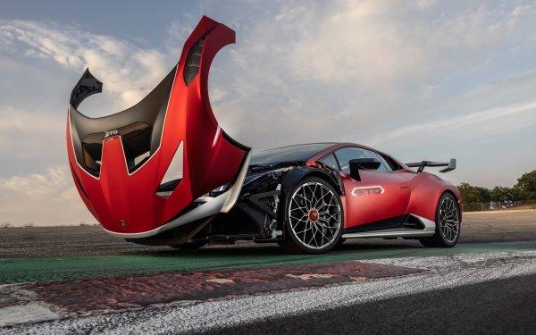 Vehicles Lamborghini Huracán STO Lamborghini Supercar Red Car HD Wallpaper   Background Image
