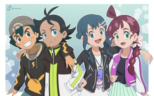 Anime Pokémon Ash Ketchum Goh Dawn Chloe Fondo de pantalla HD | Fondo de Escritorio