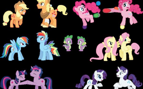 TV Show My Little Pony: Friendship is Magic My Little Pony Twilight Sparkle Dusk Shine Rainbow Dash Rainbow Blitz Applejack Pinkie Pie Bubble Berry Fluttershy Butterscotch Rarity Elusive Spike Genderbend HD Wallpaper | Background Image