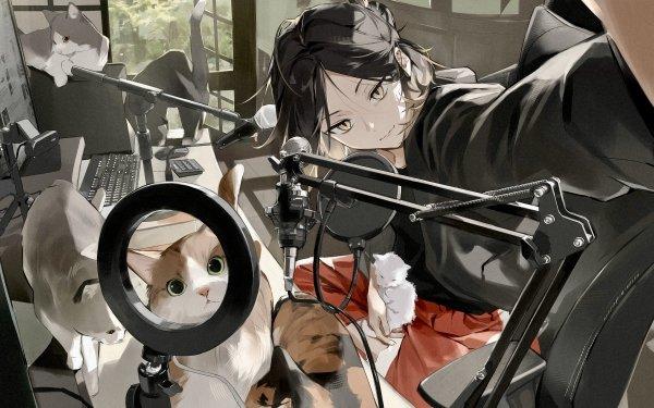 Anime Haikyu!! Kenma Kozume Cat HD Wallpaper | Background Image