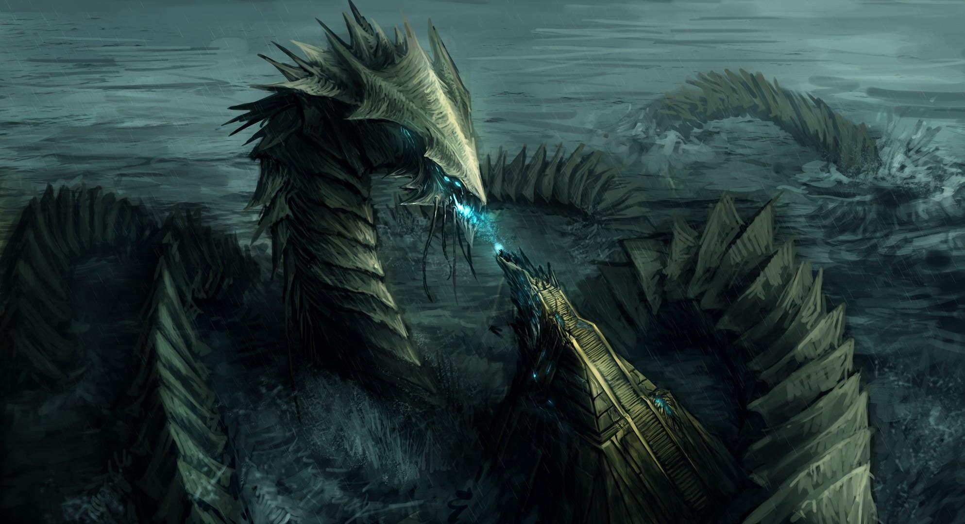 Httptenshikiiiantartartgod of the sea nahthusha fantasy creature wallpaper voltagebd Image collections