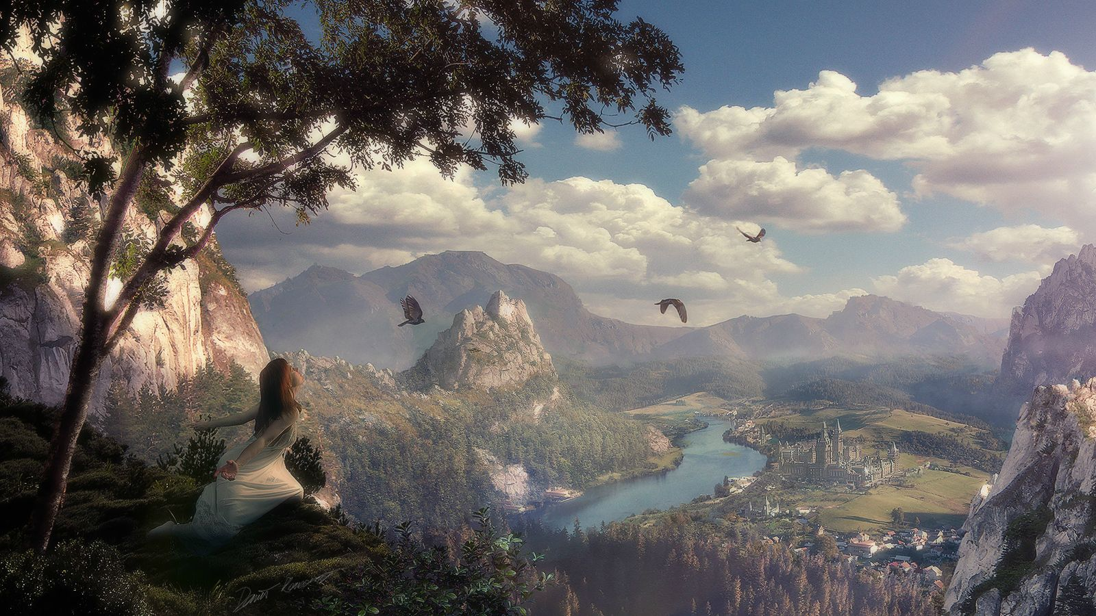 Fantasy - Landschaft  Wallpaper